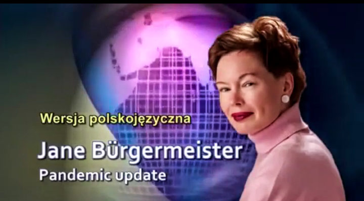 Jane Burgermeister-fałszywa pandemia, WHO, szczepienia, tajemnicza katastrofa Rządu Polskiego VIDEO