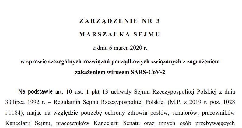 Paranoja postępuje! Sejm zamyka drzwi