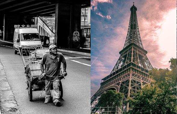 Bezdomni do hoteli. Paryż.