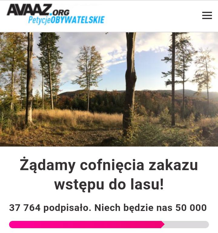 Petycja- żądamy cofnięcia zakazu wstępu do lasu!