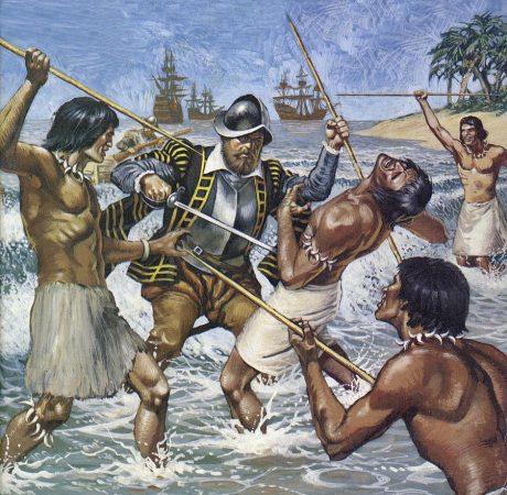 Śmierć Magellana – kartka z kalendarza.