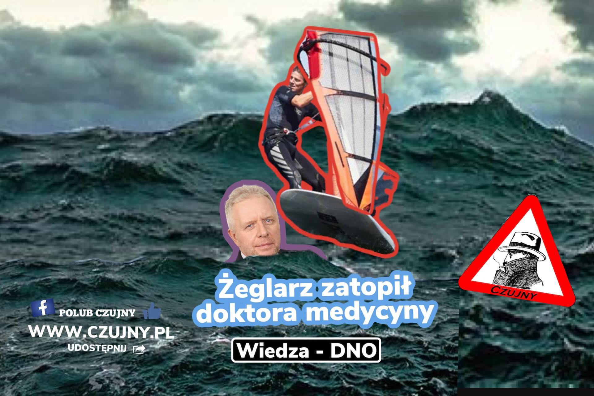 Mistrz windsurfingu kontra lekarz.