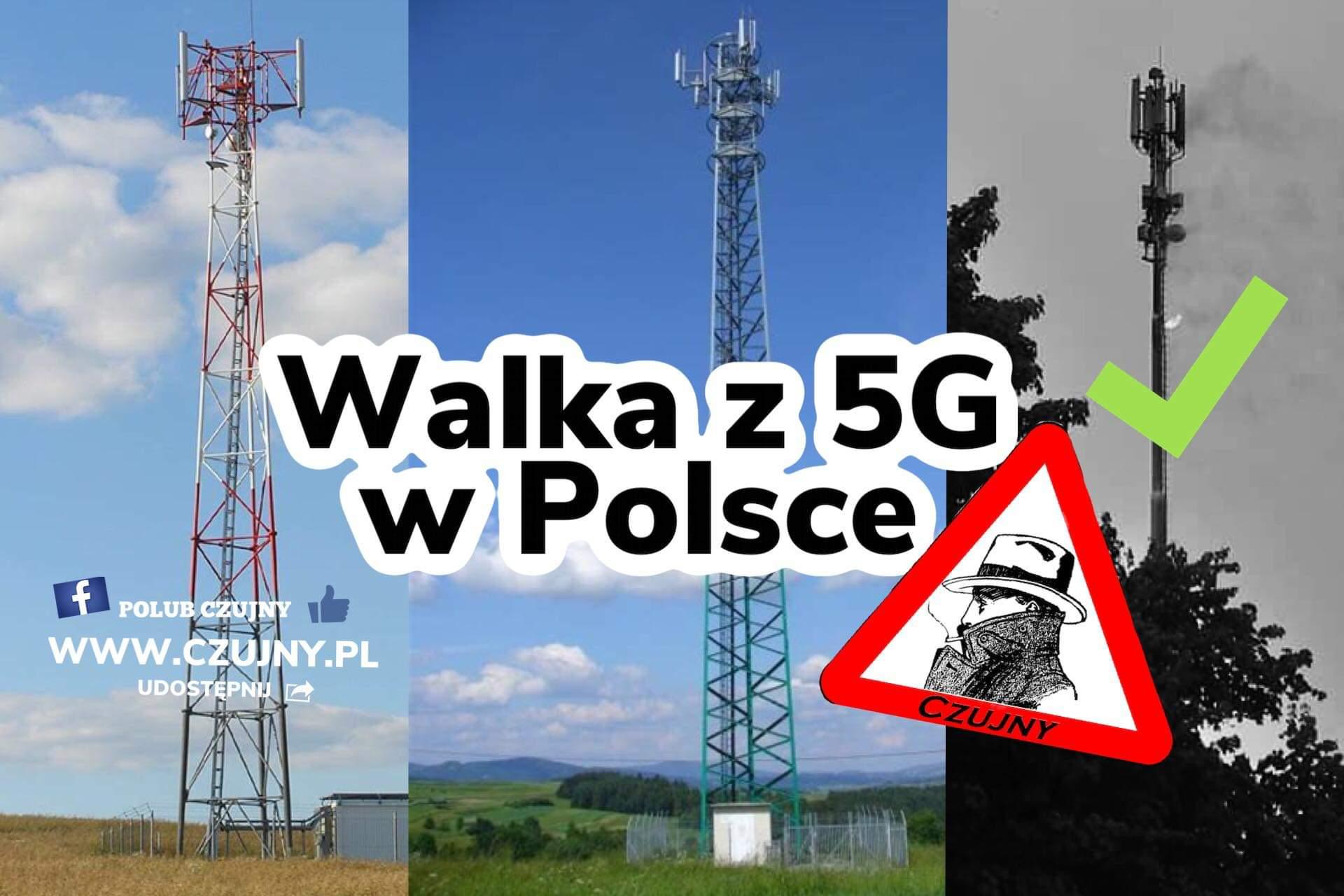 Walka z 5G w Polsce- maszty w płomieniach!