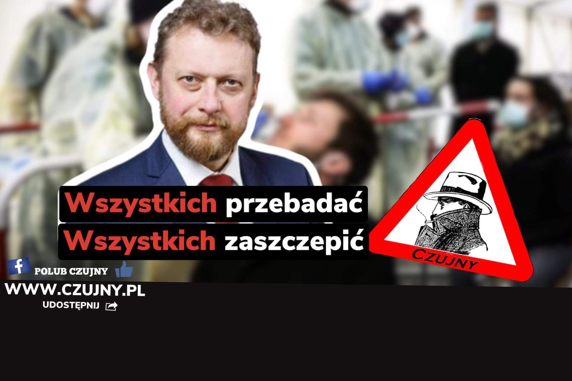 Wyniki na COVID-19 dla wszystkich Polaków- Rzecznik MZ