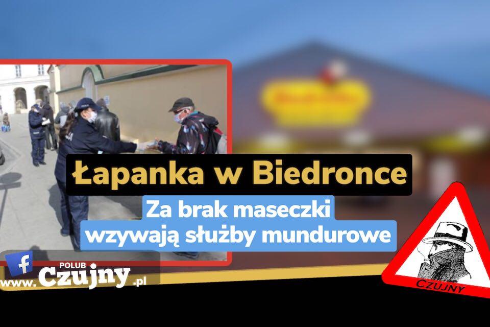 Łapanki w Biedronce (wideo).