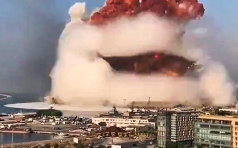 Gigantyczna eksplozja w Libanie (Video)