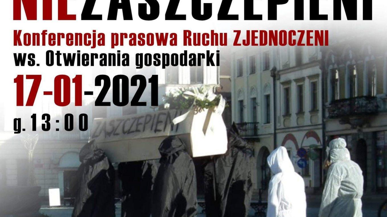 Konferencja prasowa Zjednoczonych połączona z przemarszem, 17.01 Kraków.