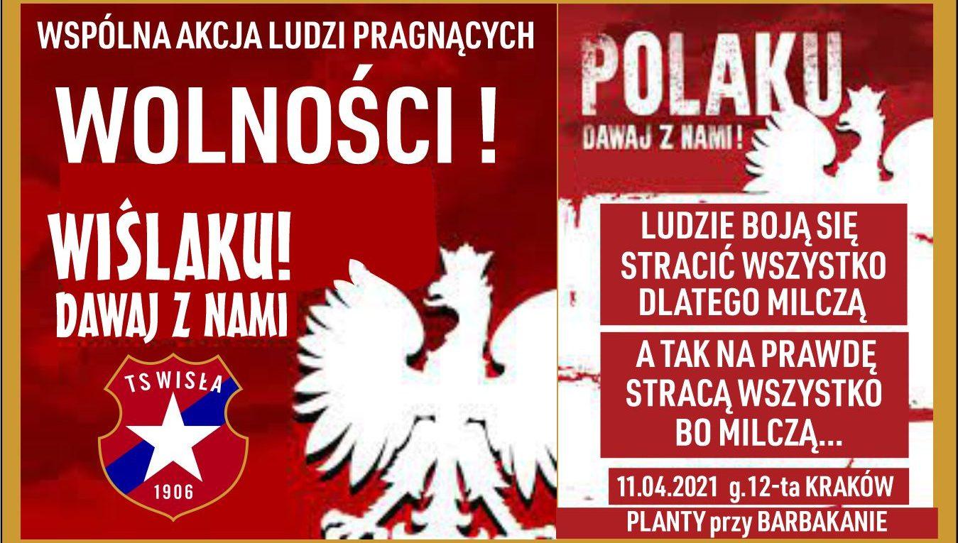 Polaku dawaj z nami! – kibice Wisły Kraków odpowiadają!